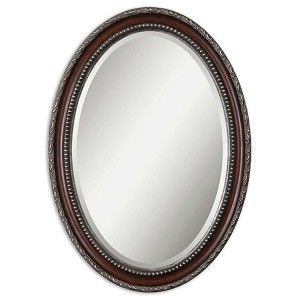 Montrose Collection Oval Silver Mirror 14196