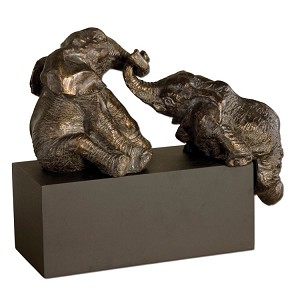 Playful Pachyderms Collection Bronze Figurines 19473