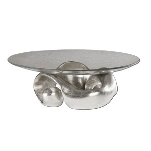 Entwined Collection Silver Leaf & Glass Bowl 19484