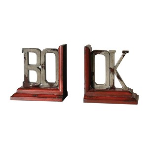 Book Collection Distressed Bookends, (Set of 2) 19589