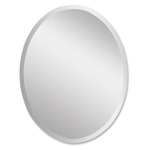 Frameless Collection Large Oval Mirror 19590B