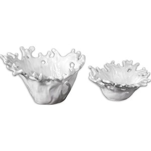 Coral Collection White Decorative Bowls, (Set of 2) 19616