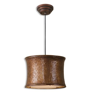 "Marcel Collection 2-Light 17"" Metallic Copper Pendant 21140"