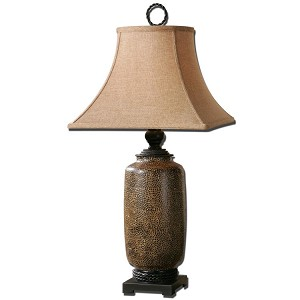 "Gravina Collection 1-Light 33"" Antique Chocolate Lamp 26854"