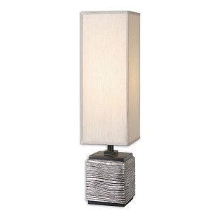 "Ciriaco Collection 1-Light 30"" Antiqued Silver Buffet Lamp 29282-1"