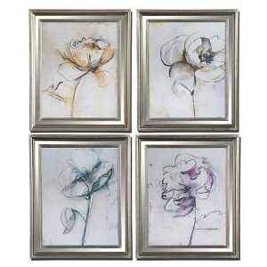 Jesters Collection Floral Art (Set of 4) 41364