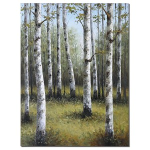 Birches In Spring Collection Hand Painted Art 42513