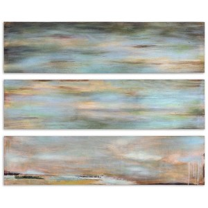 Horizon View Collection Hand Painted Panel (Set of 3) 51012