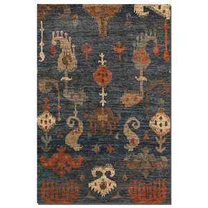 Bali Collection 6' x 9' Blue/Gray Jute Rug 70007-6