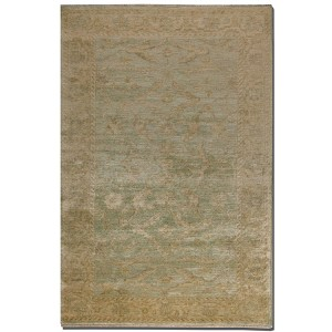 Anna Maria Collection 6' x 9' Blue/Gold/Ivory Wool Rug 70008-6