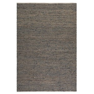 Tobais Collection 5' x 8' Leather & Hemp Rug 71001-5