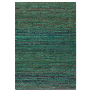 Nivi Collection 9' x 12' Blue/Green/Orange/Red Viscose Rug 71003-9