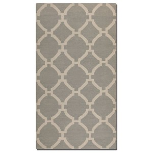 Bermuda Collection 8' x 10' Gray Wool Rug 71014-8