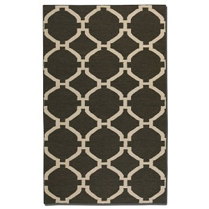 Bermuda Collection 5' x 8' Charcoal Wool Rug 71015-5