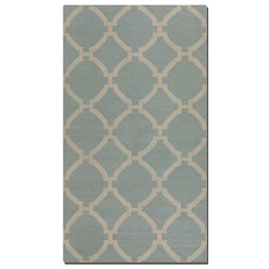Bermuda Collection 8' x 10' Blue Wool Rug 71016-8