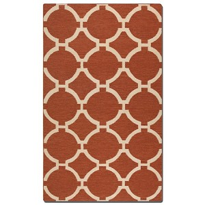 Bermuda Collection 9' x 12' Burnt Sienna Wool Rug 71017-9
