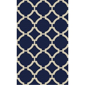 Bermuda Collection 9' x 12' Indigo Wool Rug 71020-9