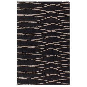 Temara Collection 5' x 8' Chocolate Wool Rug 73004-5