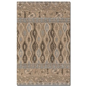 Cadiz Collection 9' x 12' Beige/Blue/Brown/Khaki Wool Rug 73008-9