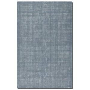 Zell Collection 5' x 8' Blue/Gray Wool Rug 73019-5