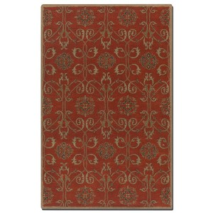 Favara Collection 5' x 8' Red Wool Rug 73040-5
