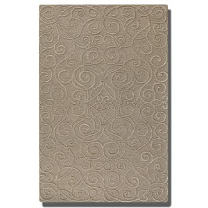 Vienna Collection 9' x 12' Taupe Wool & Viscose Rug 73041-9