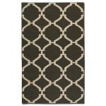 Bermuda Collection 8' x 10' Charcoal Wool Rug 71015-8