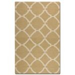Bermuda Collection 5' x 8' Wheat Wool Rug 71019-5