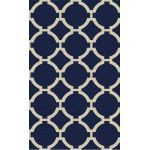 Bermuda Collection 8' x 10' Indigo Wool Rug 71020-8