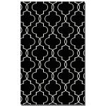 Devonshire Collection 8' x 10' Black Wool Rug 71024-8
