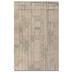 Tangier Collection 5' x 8' Beige/Khaki Wool Rug 73002-5