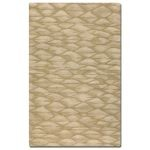 Berkane Collection 5' x 8' Beige/Gold Wool Rug 73005-5