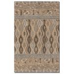 Cadiz Collection 5' x 8' Beige/Blue/Brown/Khaki Wool Rug 73008-5