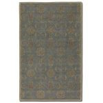 Favara Collection 5' x 8' Blue/Gray Wool Rug 73023-5