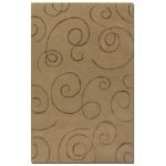 Manhattan Collection 5' x 8' Brown Wool & Viscose Rug 73030-5