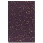 Manhattan Collection 5' x 8' Purple Wool & Viscose Rug 73031-5