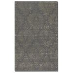 Paris Collection 5' x 8' Blue/Gray Wool & Viscose Rug 73033-5