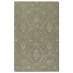 Geneva Collection 5' x 8' Green Wool & Viscose Rug 73035-5