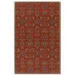 Favara Collection 8' x 10' Red Wool Rug 73040-8