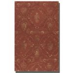 Geneva Collection 5' x 8' Crimson Wool & Viscose Rug 73044-5