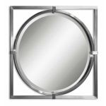 Kagami Collection Brushed Nickel Mirror 01053B