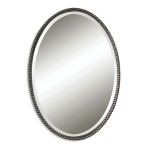 "Sherise Oil Rubbed Bronze 32"" Oval Mirror 01101B"