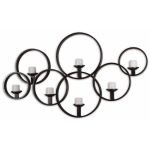 Kadoka Rustic Black Iron Decorative Wall Candle Holder 07617