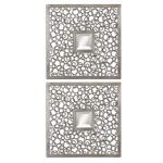 Colusa Squares Collection Silver Mirror (Set of 2) 07622