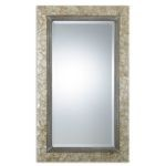 "Pearl Collection Mother of Pearl 48"" Rectangular Shell Mirror 07626"
