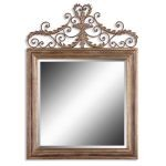 "Valonia Collection 59"" Antiqued Gold Lead Mirror 12631B"