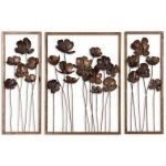 Metal Tulips Collection Wall Art (Set of 3) 12785