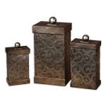 Nera Collection Metal Decorative Boxes, (Set of 3) 19418