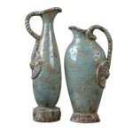 Freya Collection Sky Blue Vases, (Set of 2) 19552