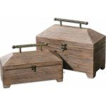 Tadao Collection Natural Wood Boxes, (Set of 2) 19653